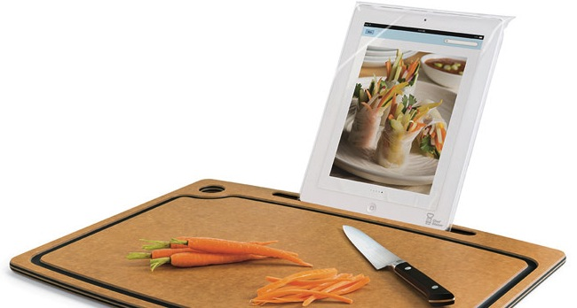 Chef Sleeve Cutting Board with iPad Stand