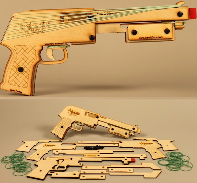 Multi-Shot Rubber Band Shotgun