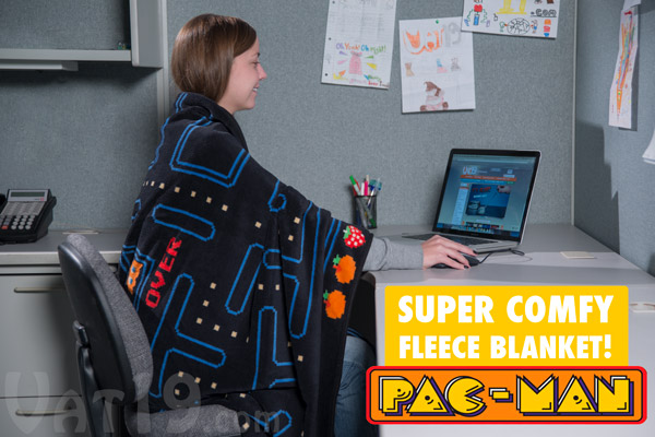 pac man blanket Game Over: Pac Man Fleece Blanket