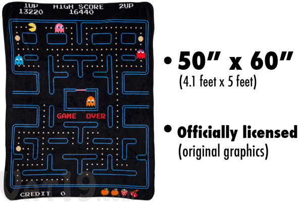 pac man fleece Game Over: Pac Man Fleece Blanket