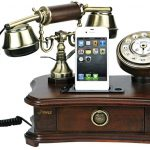 Rotary Style Retro Home Telephone and Charger for iPhones