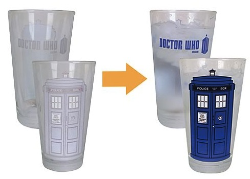 tardis color changing glass Dr. Who Tardis Color Changing Glass