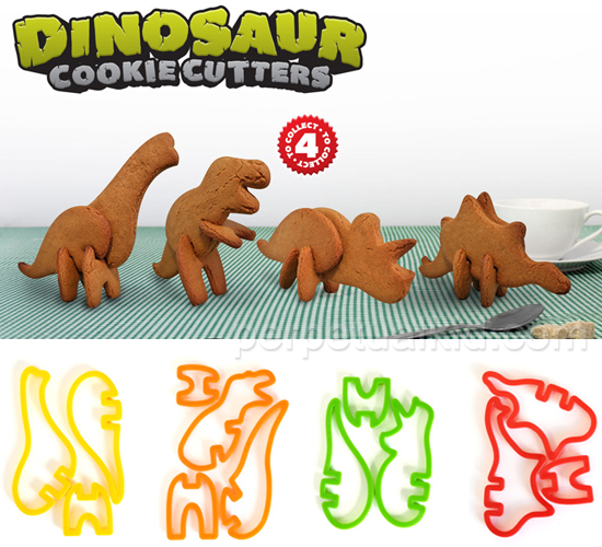 3-D Dinosaur Cookie Cutters