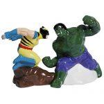 Hulk v. Wolverine Salt and Pepper Shakers