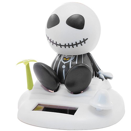 Solar Powered Jack Skellington Bobblehead
