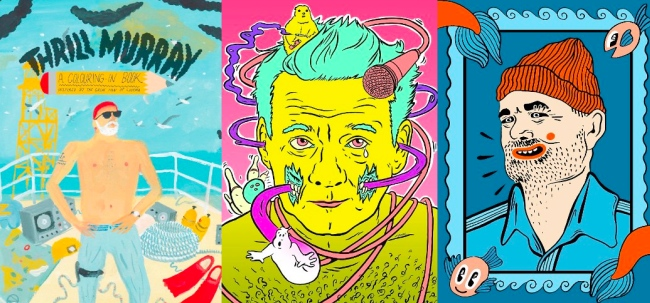 just when you thought bill murray - Thrill Murray Coloring Book
