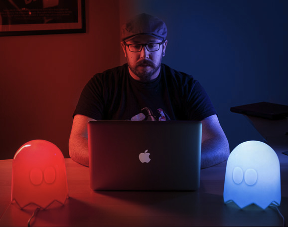 pac man ghost lamps Color Changing Pac Man Ghost Lamp