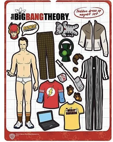 sheldon cooper dress up Big Bang Theory Sheldon Cooper Dress Up Magnet Set