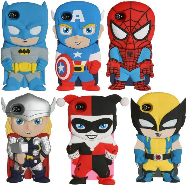 Superhero X-Chara iPhone Covers
