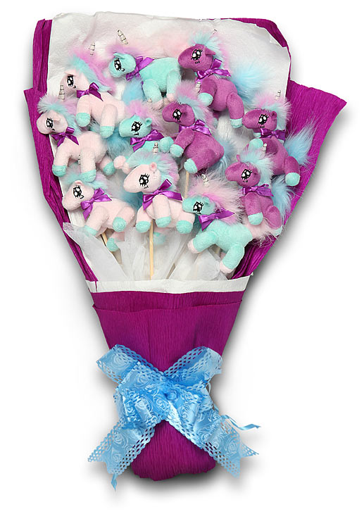 unicorn bouquet Plush Unicorn Bouquet