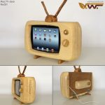 Wood iPad Retro Television Dock