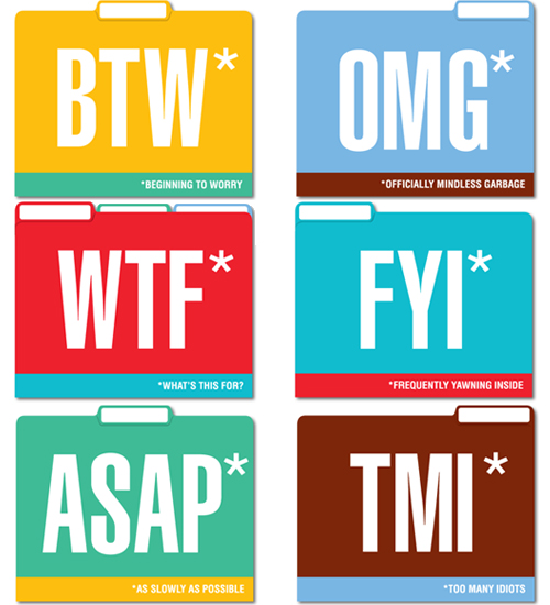 Honest Acronym File Folders