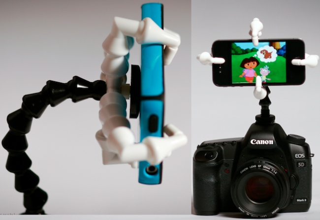 Attach a Smartphone or Stuffed Animal to a DSLR with DaisyGrip