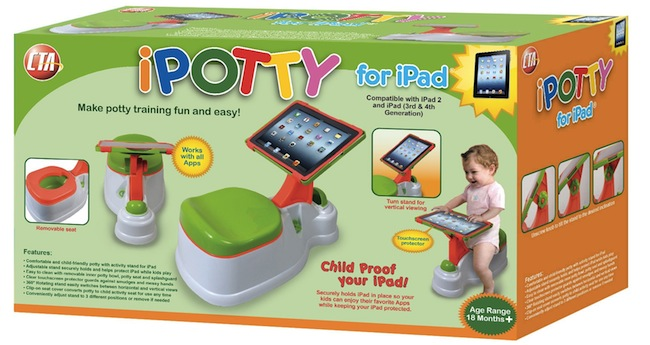 ipotty ipad iPotty: iPad Holding Potty Seat