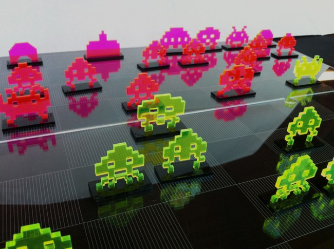 laser cut space invaders chess set 650x485 Laser Cut Space Invaders Chess Set