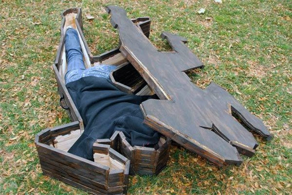 Crime Scene Coffin