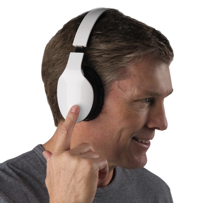 Swipe Your Finger to Control These Headphones