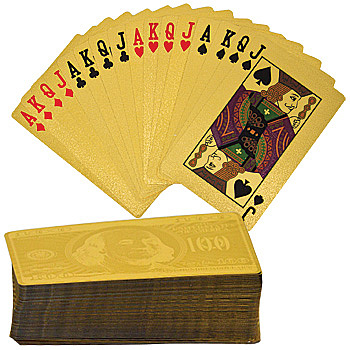 Gold Plated Playing Cards -Craziest Gadgets