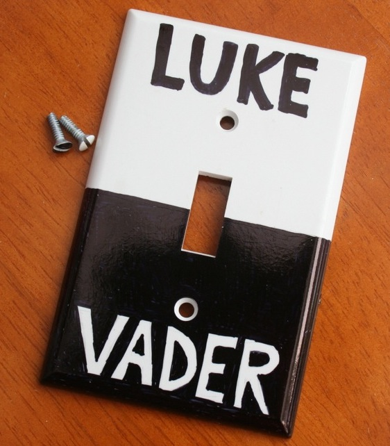 luke vader switch Light Side Dark Side Switch Plate uses the Force