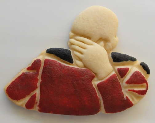 Picard Facepalm Cookies (Trek Treats)