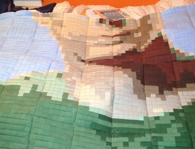 sheldon cooper pixel quilt 7500 Pixels in this Sheldon Cooper Pixel Quilt