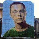 7500 Pixels in this Sheldon Cooper Pixel Quilt