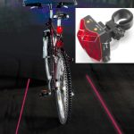 Cyclist's Virtual Safety Lane Projector Light