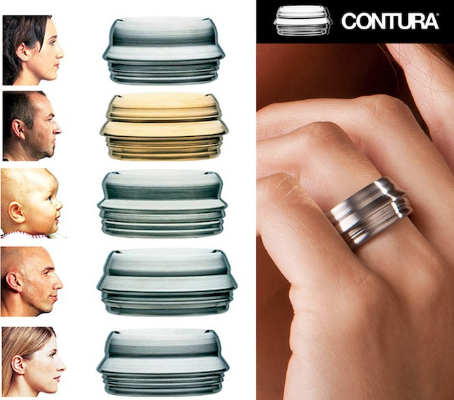 contura ring Wear Someones Face with Face Profile Rings