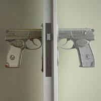 handgun door knobs