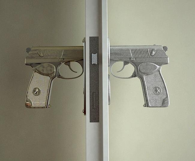 Handgun Doorknobs