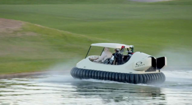 hovercraft golfcart Hovercraft Golf Cart, Fore the Win