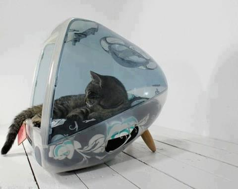 iCat: Vintage iMac Cat House