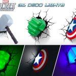 Marvel Avengers 3D Wall Lights