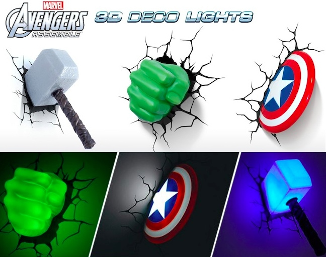 Marvel Avengers 3D Wall Lights