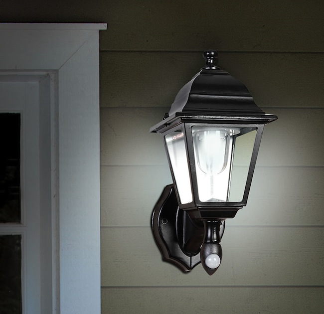 Motion Activated Cordless Outdoor Sconce