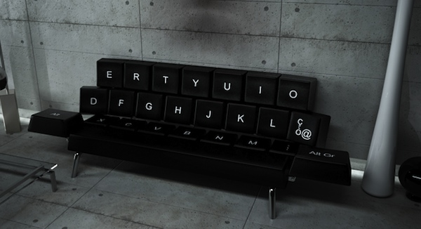 QWERTY Keyboard Sofa Concept