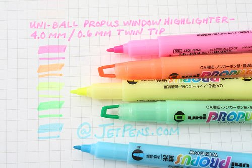 uniball propus See Through Tip Highlighters