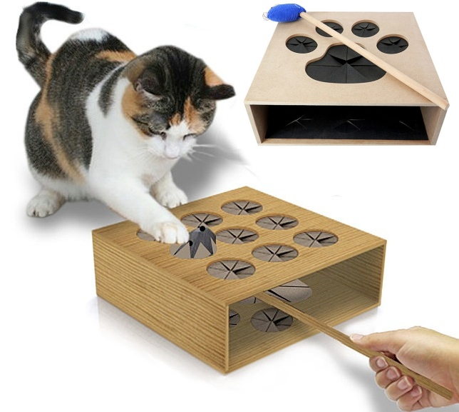 Best cat toy ever cat whack a mole craziest gadgets for How to make a cat toy out of a box