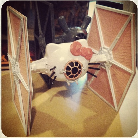Hello Kitty Tie Fighter