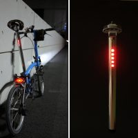 LightSkin Bicycle Seat Post with LED Lights