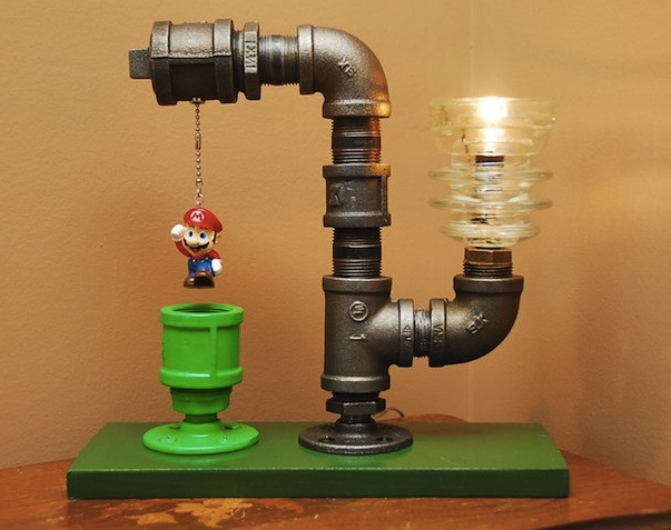 super mario pipe lamp Pinboard