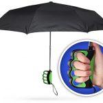 Finger Grip Handle Umbrella for Texting in the Rain