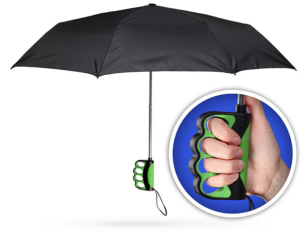 Finger Grip Handle Umbrella for Texting in the Rain
