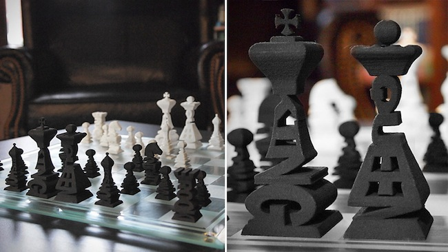 Typographic Chess Set Spells Out the Pieces