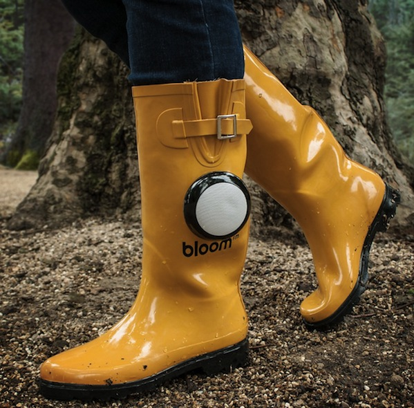 Rain Boots with a Bluetooth Speaker