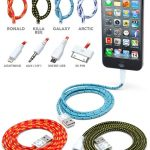 Braided Fabric Smartphone Cables Won't Tangle