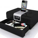 iPhone Radio Dock with Hidden Safe Drawer