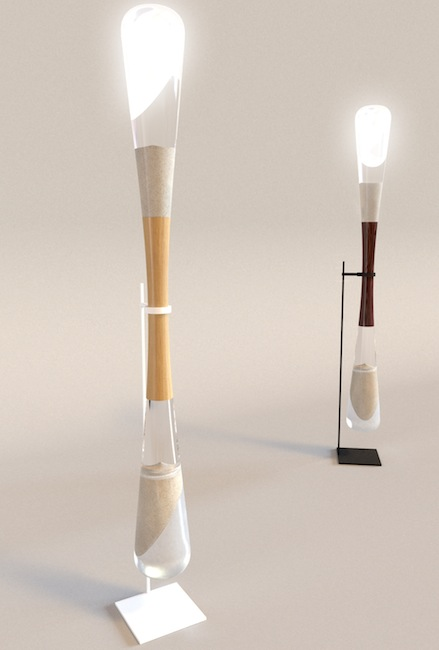 hourglass floor lamp Sand Powered LED Hourglass Lamps