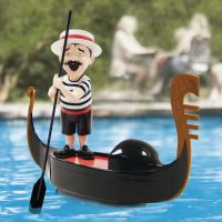 singing pool gondolier