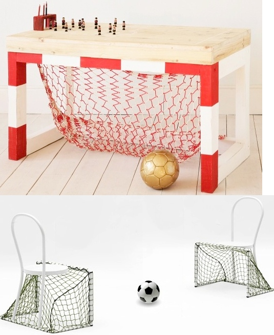 Soccer Goal Desk and Chairs